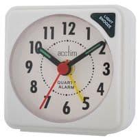 Acctim Ingot Mini Alarm Clock - White